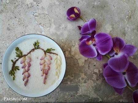 آموزش تهیه شیر برنج , طرز تهیه شیر برنج , تزیین دسر شیر برنج